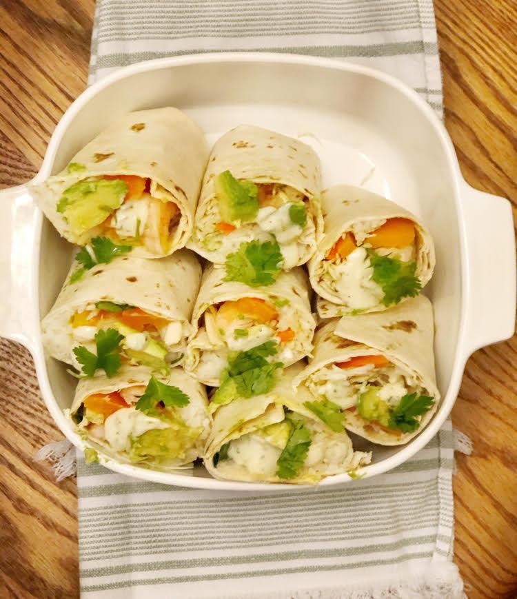 I love this recipe for shrimp burritos -- it's a great potluck dish.
