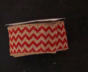 Red chevron wired burlap ribbon from burlapfabric.com
