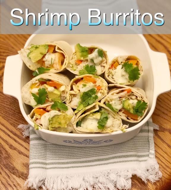 These shrimp burritos are a great potluck dish.