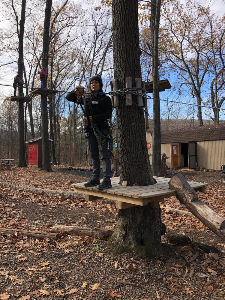 Our guide at the TreEscape Aerial Adventure Course at Mountain Creek taught us everything we needed to know to safely tackle the obstacles and zip lines.