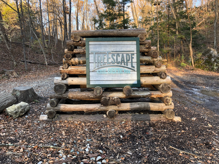 The TreEscape Aerial Adventure Course in Sussex County, NJ, offers a challenging ropes course full of obstacles and ziplines.