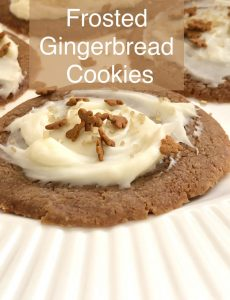 I love these delicious frosted gingerbread cookies!