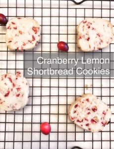 I love this delicious and easy recipe for cranberry lemon shortbread cookies!