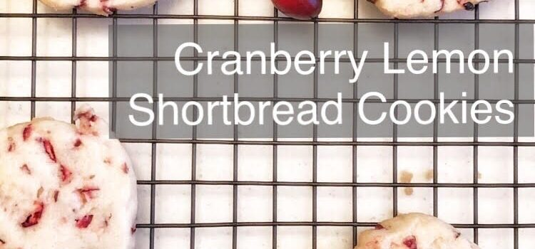 Cranberry Lemon Shortbread Cookies Recipe
