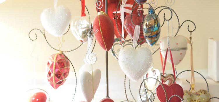 Sentimental Heart Ornament Tree