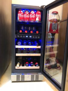 The NewAir wine/beverage fridge is perfect for holiday entertaining. It's perfect for cooling and storing sodas, iced teas, wine and beer.