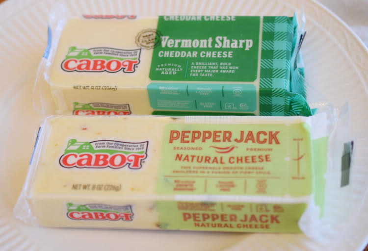 I love delicious Cabot cheese from Vermont - like its cheddar and pepper jack.
