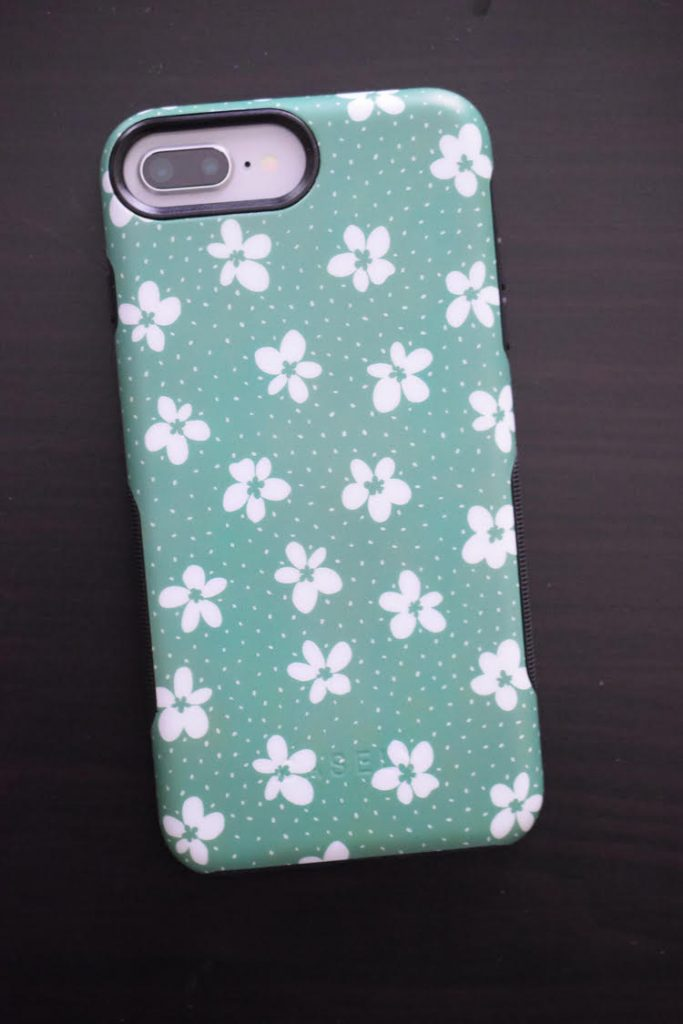 The Flower My World | Jade Green Flower iPhone case from GetCasely.com provides protection from drops, cracks and breakage.