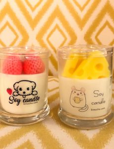 Beautifully crafted all natural soy candles by Binu & Cho