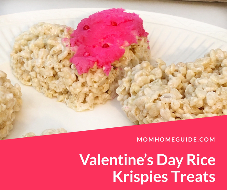 I love this easy and cute recipe for heart-shaped Rice Krispies treats for Valentine's Day!