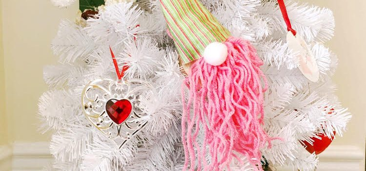 Valentine's Day Tree with Heart Ornaments