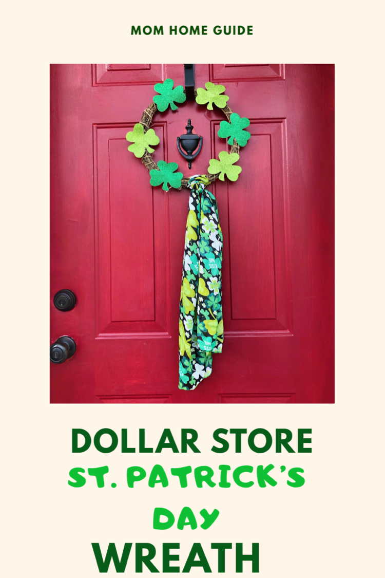 I love this easy to make dollar store wreath for St. Patrick's Day!