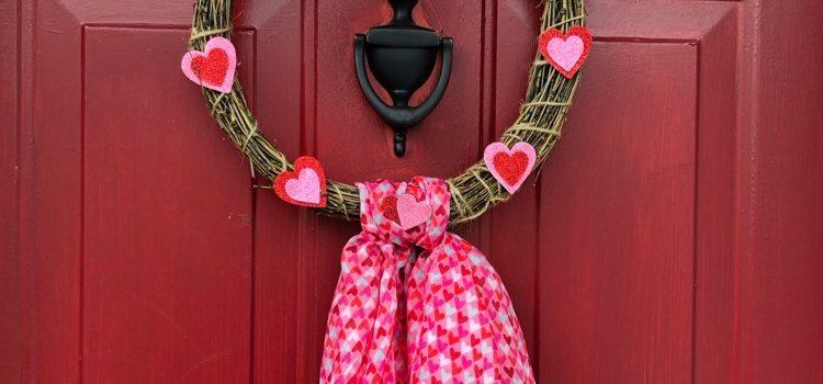 Easy Dollar Store Valentine's Day Wreath