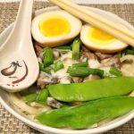 Cheesy Mushroom Swiss Udon with Soy-Marinated Egg