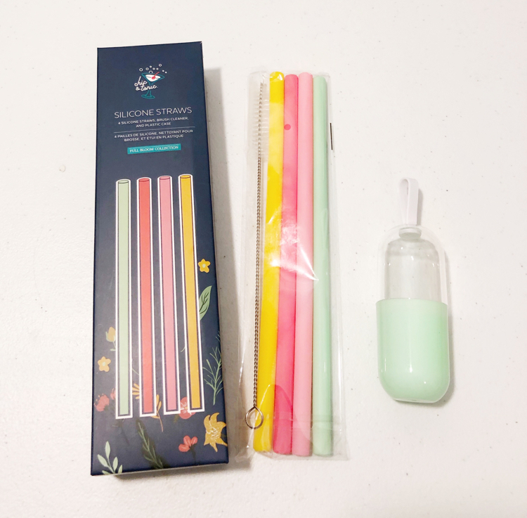 These eco-friendly silicone straws from my spring FabFitFun box come with their own carrying case.