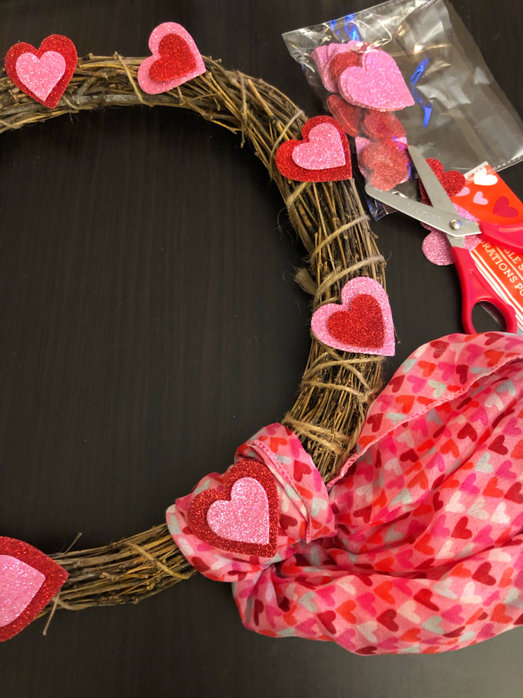Check out how to make this easy Valentine's Day wreath with dollar store materials