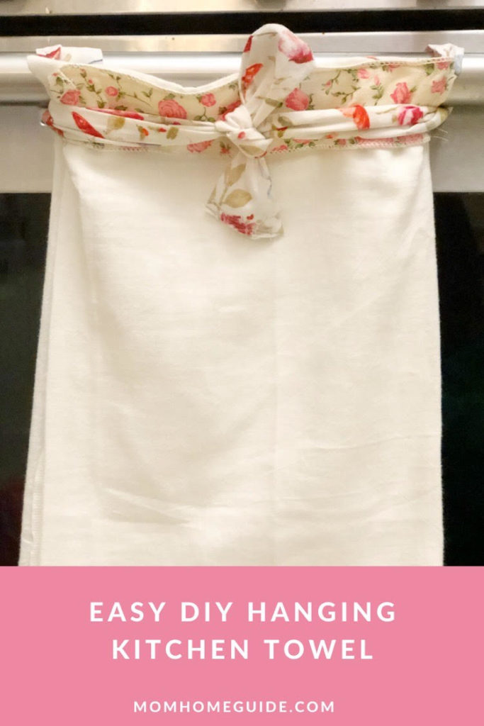 DIY hanging kitchen towel