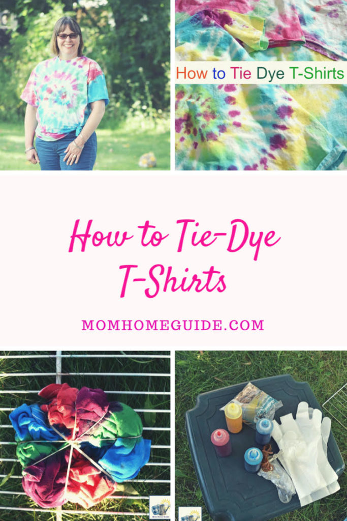 Follow this tutorial to learn how to tie dye t-shirts. This is a fun activity to do with the kids!