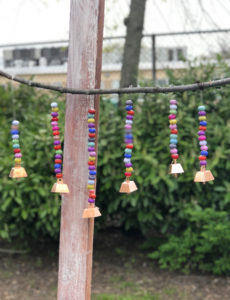 This beaded DIY wind chime is easy to make with materials you can find at home