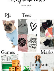 Stayhome finds from Jane - cloth face masks, inspirational tees, dog PJS, comfy jumpsuits and games