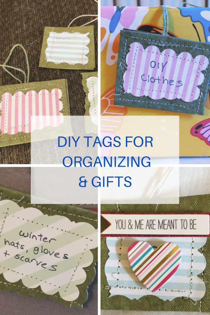 Make these cute DIY gift and organizing tags with Kraft tex paper fabric.
