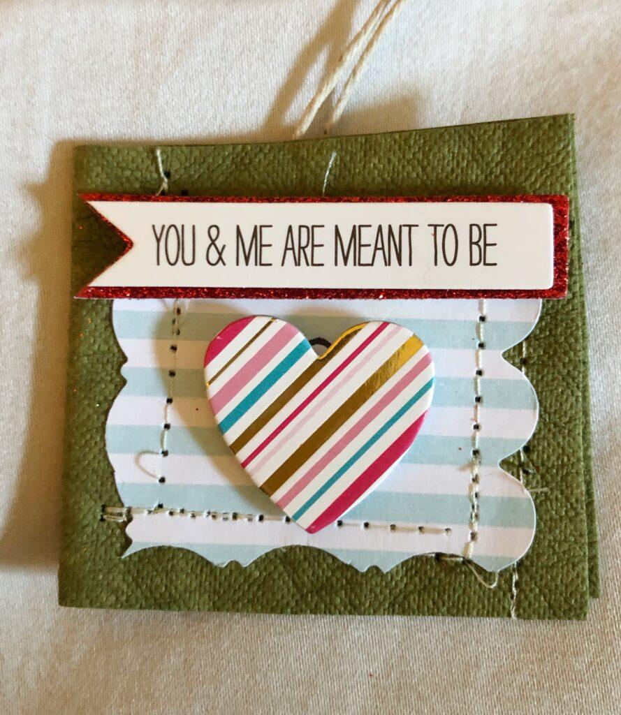 DIY anniversary gift tag