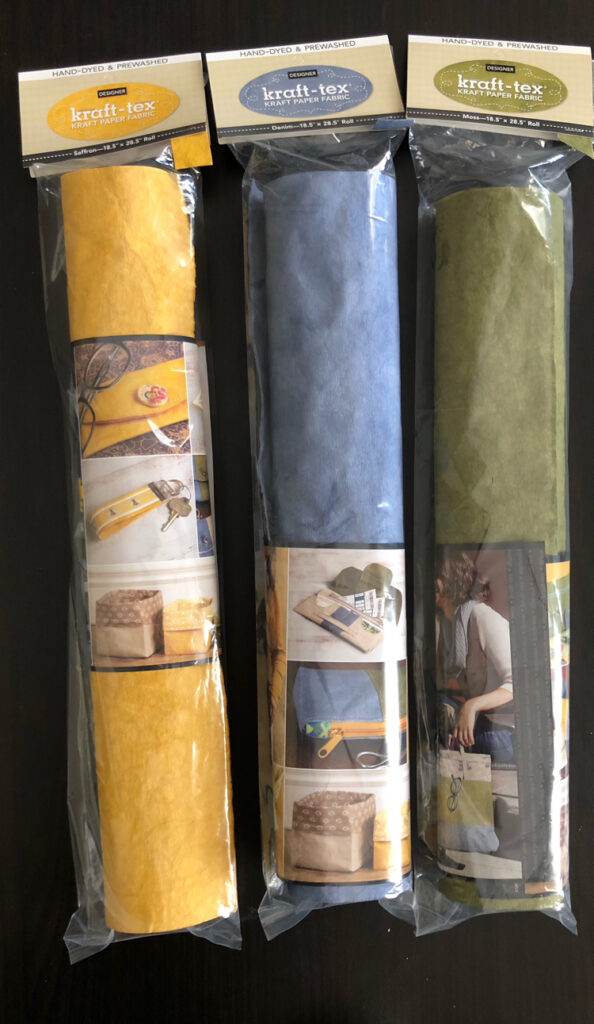 Kraft-tex is paper that works like fabric and has the appearance of leather. It is perfect for sewing and other crafts.