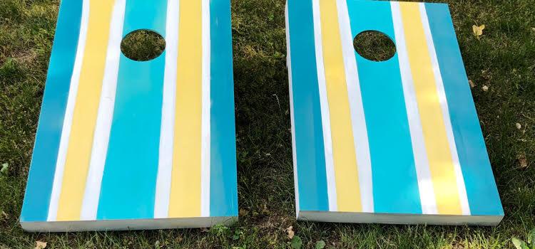 DIY Painted Cornhole Boards
