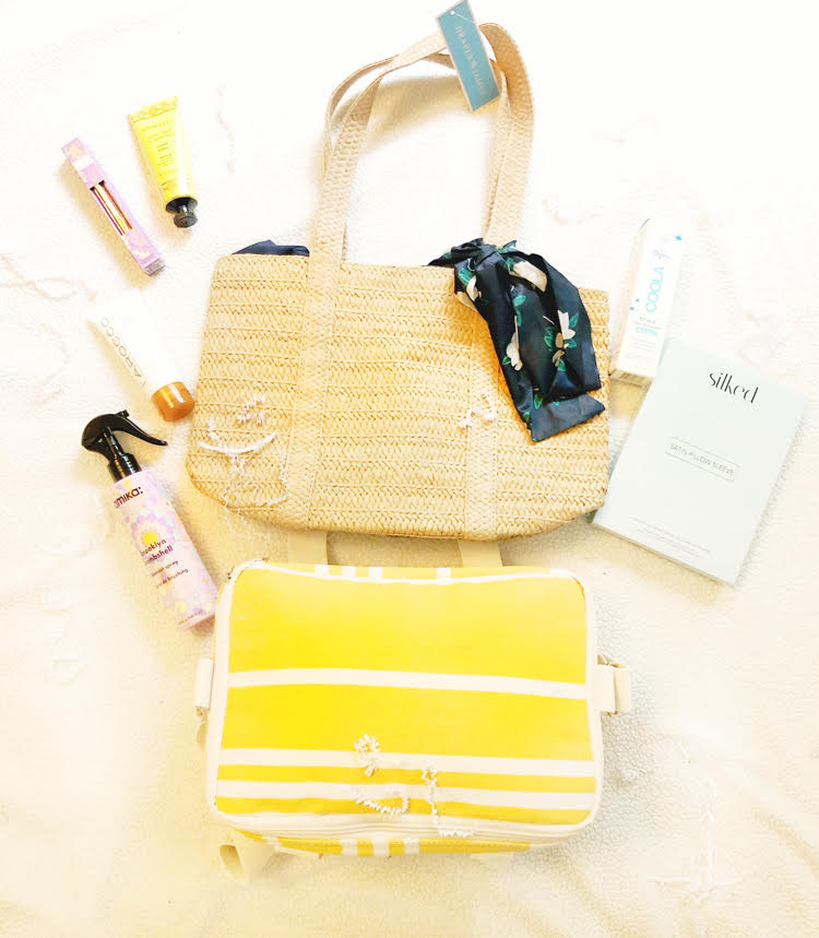 The summer FabFitFun box has a lot of useful items for the summer, like a straw tote, cooler bag, organic sunscreen, coconut verbena hand cream, foot cream, and blowout spray.