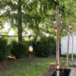 Easy Patio Planter Posts for String Lights