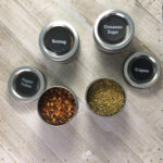 Friday Finds: Magnetic Spice Tins with Chalkboard Labels