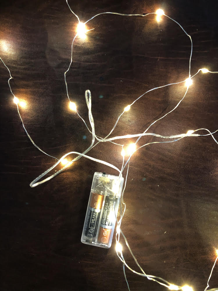 battery operated starry fairy string lights