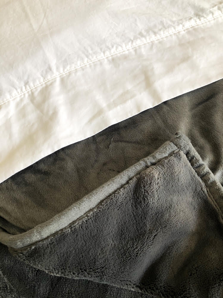 plush gray weighted blanket by Therapedic