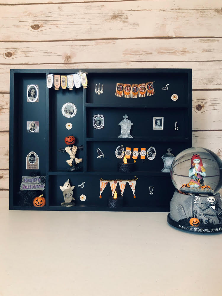 DIY Halloween shadow box