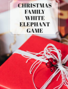 how to host a family Christmas White Elephant Game