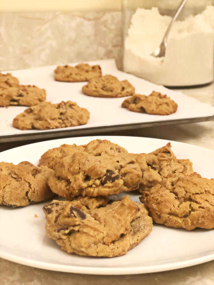 homemade chocolate chip peanut butter cookie recipe