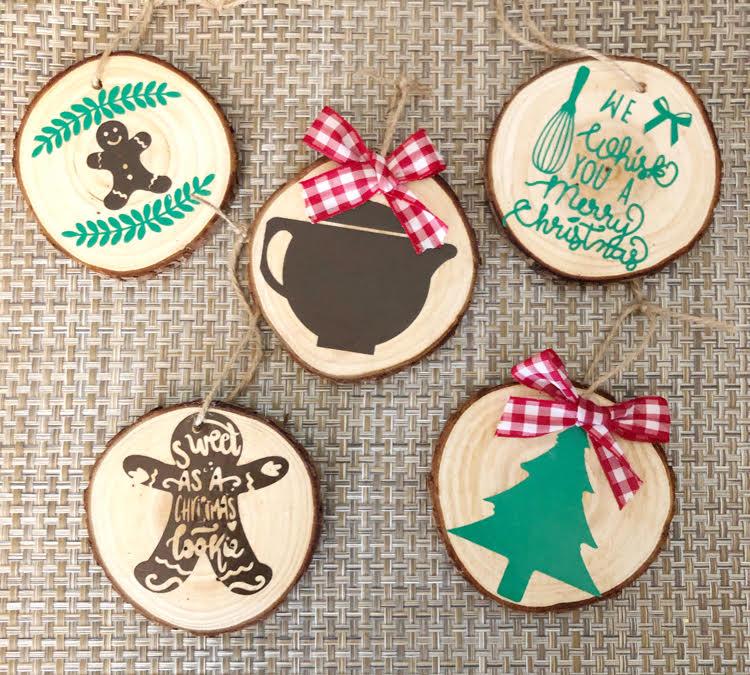 beautiful homemade DIY wood slice ornaments