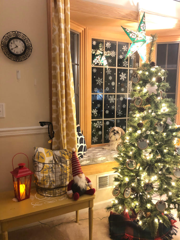 My new Nearly Natural artificial pine Christmas tree is so realistic looking and is lit with adorable fairy lights. The Christmas tree has a slim profile so it easily fits in tight spaces.