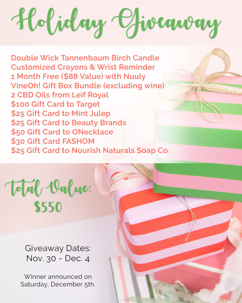holiday giveaway bundle with target gift card