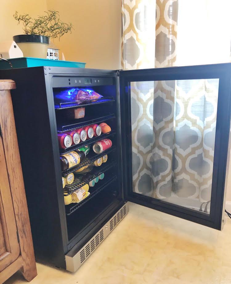 beautiful NewAir stainless steel 224 beverage can fridge