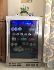 modern 224 can NewAir LED beverage fridge
