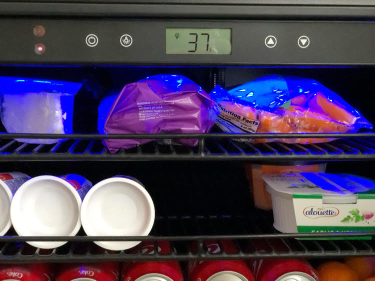 NewAir electronic mini fridge temperature control