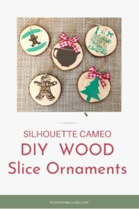 DIY wood slice kitchen themed ornaments