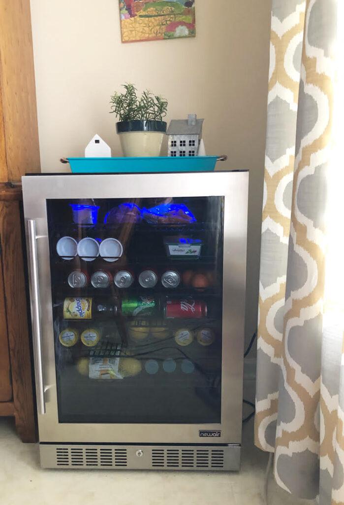 NewAir stainless steel 224 can beverage fridge