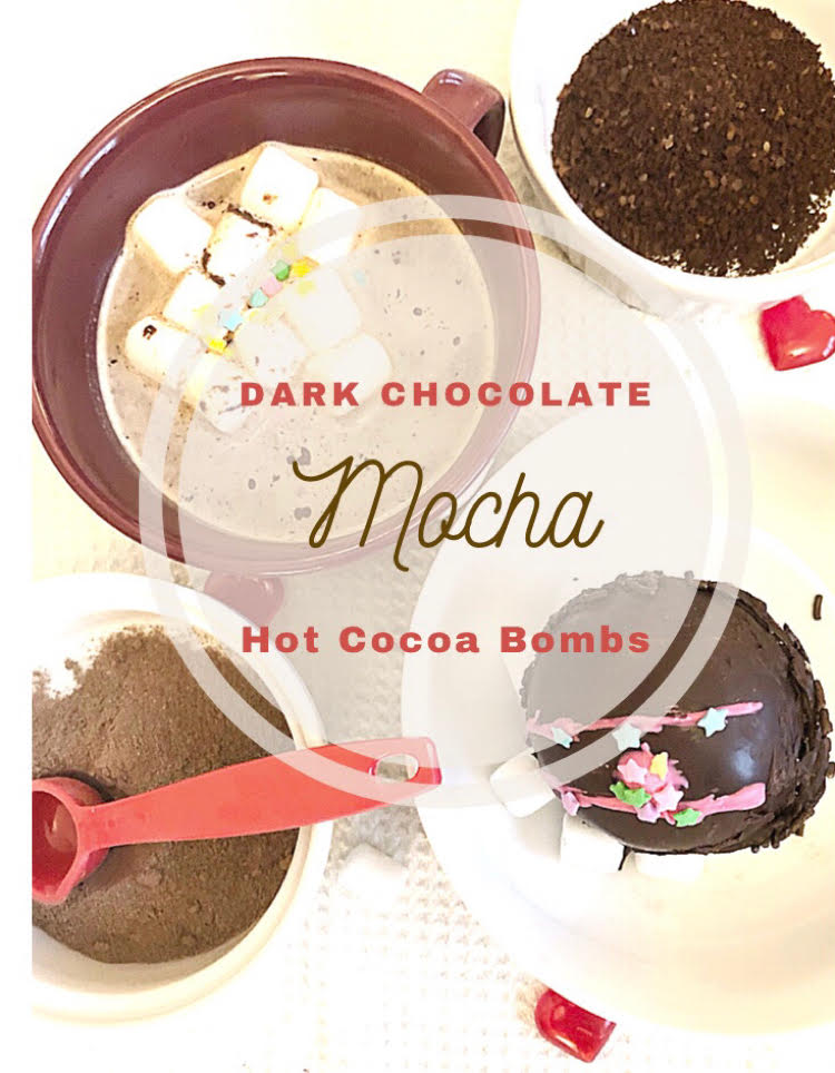 how to make mocha dark chocolate hot cocoa bombs
