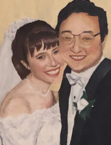 wedding portrait of Lauren Kim and her husband