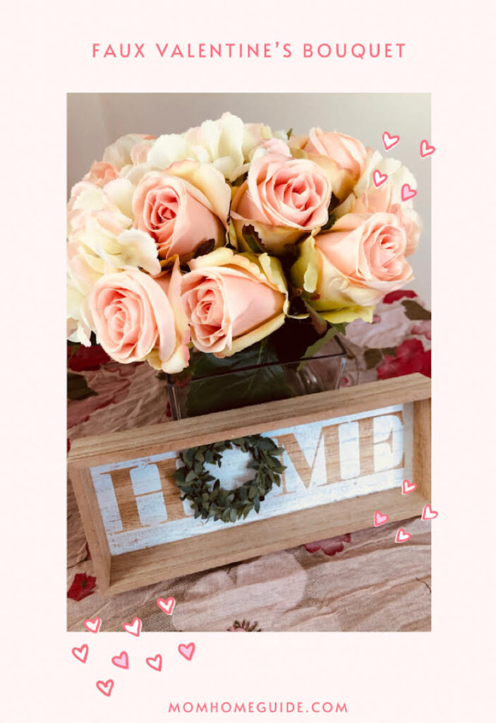 faux valentine's day flowers