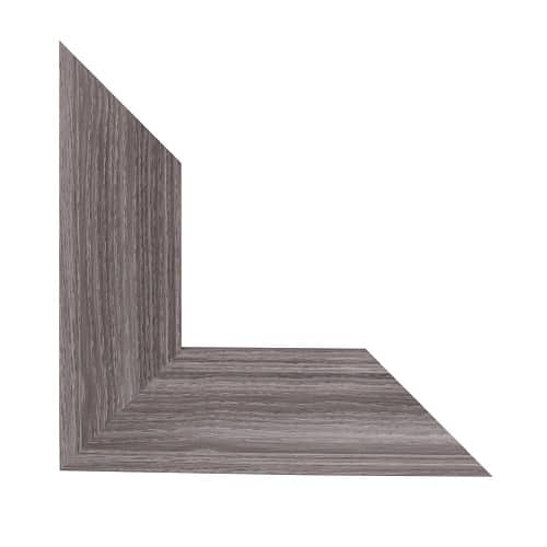 section of a gray mirror frame