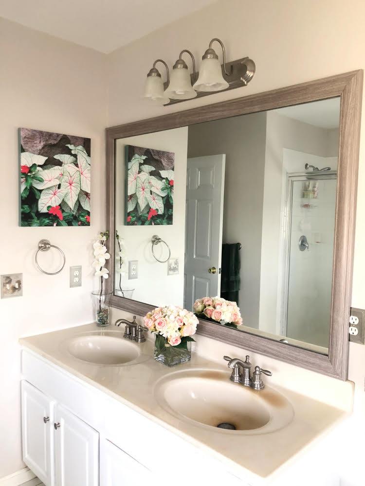 MirrorChic bathroom mirror frame