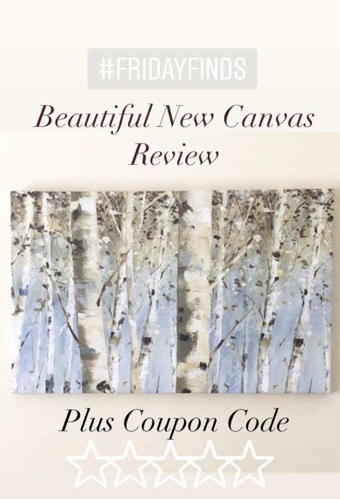 beautiful canvas of a birch tree forest